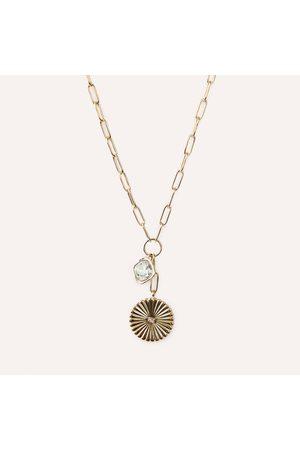 Akola Women Necklaces - INNER STRENGTH Chain Pendant with Swarovski Crystal & Horn