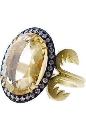 Sylva & Cie Byblos Oval Citrine and Diamond Ring