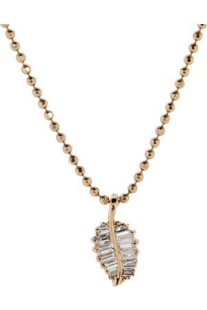 Anita Small Palm Leaf Diamond Necklace