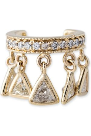 JACQUIE AICHE Trillion Diamond Shaker Earcuff
