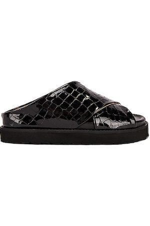 Ganni Belly Croc Sandal in