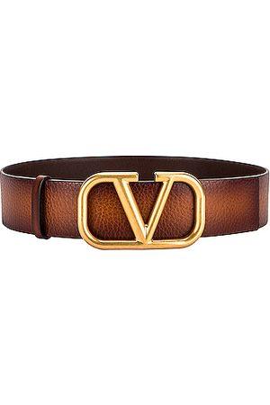 VALENTINO GARAVANI VLogo 40 Belt in Tan