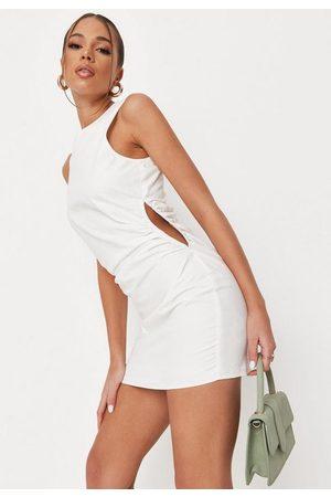 Missguided Women Bodycon Dresses - Poplin Cut Out Side Bodycon Mini Dress