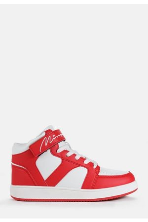 Missguided Mg Scripted High Top Sneakers