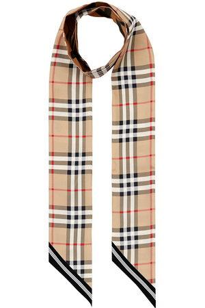 Burberry Scarves - Vintage Check skinny scarf - Neutrals