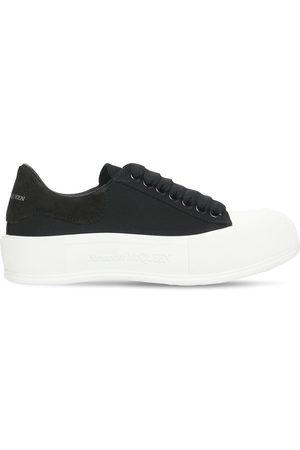 Alexander McQueen 45mm Deck Plimsoll Canvas Sneakers