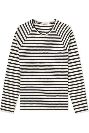 Nudie Jeans Men Long Sleeve - Nudie Long Sleeve Otto Breton Striped Tee
