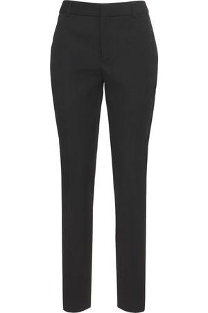 Saint Laurent Straight Wool Tuxedo Pants