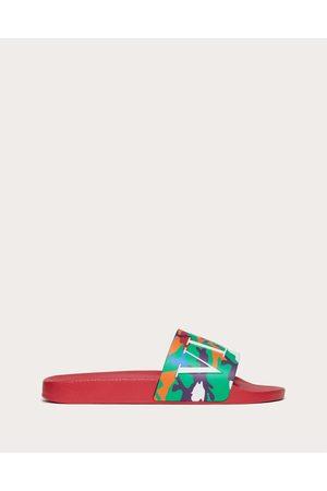 VALENTINO GARAVANI Men Sandals - Camou7 Rubber Slide Sandal Man / Plastic Material 100% 39