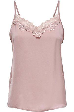 JDY Appa Lace Braces T-shirt 34 Woodrose / Detail Dtm Lace
