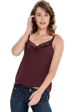 JDY Appa Lace Braces T-shirt 38 Port Royale / Detail Dtm Lace