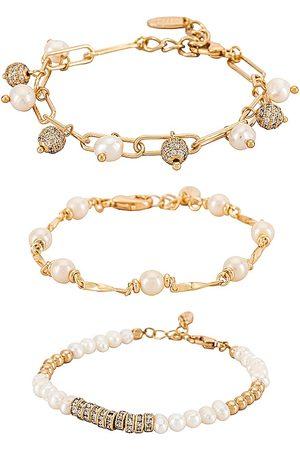 Ettika Pearl Bracelet Set.