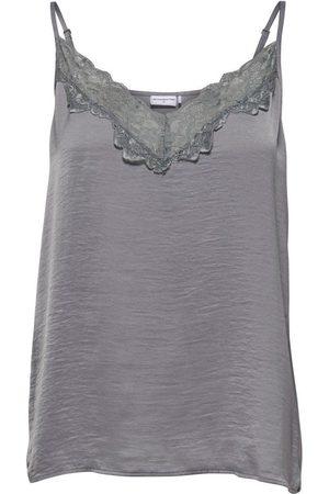 JDY Appa Lace Braces T-shirt 34 Sharkskin / Detail Dtm Lace
