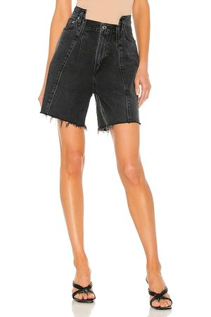 AGOLDE Pieced Angled Short in Black.