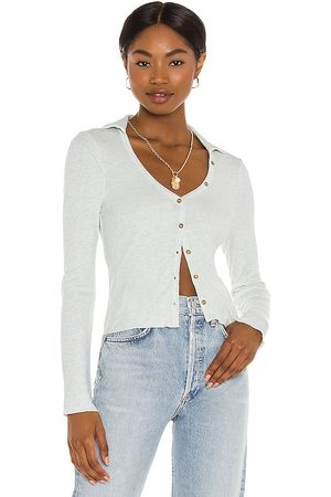 Amuse Society Take Down Long Sleeve Knit Top in Baby .