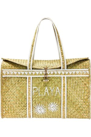 Amuse Society Palm Woven Basket in Neutral.
