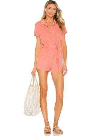 Lovers + Friends Lovers and Friends Anke Romper in Coral.