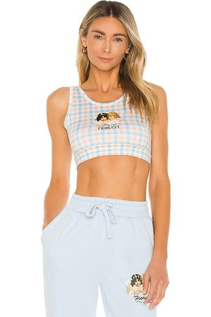 Fiorucci Gingham Angels Vest Top in Baby Blue.