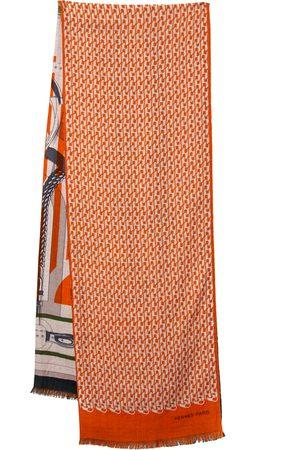 Hermes Hermès Imprimeur Fou H Coaching Cashmere Silk Muffler