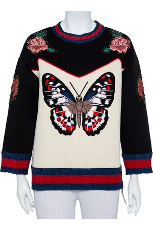 Gucci Bonded Cotton Butterfly Embroidered Jumper L