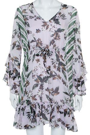 Diane von Furstenberg Silk Ruffled Oversized Mini Dress XS
