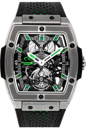HUBLOT Men Watches - Grey Titanium MP-06 Senna Tourbillon Limited Edition 906.NX.0129.VR.AES13 Men's Wristwatch 43 x 45 MM