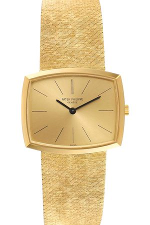 PATEK PHILIPPE Champagne 18K Yellow Gondolo Vintage 3528 Men's Wristwatch 26 x 32 MM