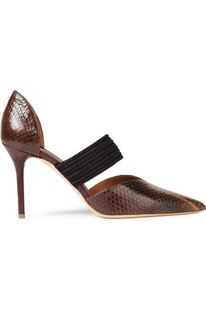 MALONE SOULIERS Woman Maisie 85 Elaphe And Braided Cord Pumps Size 37