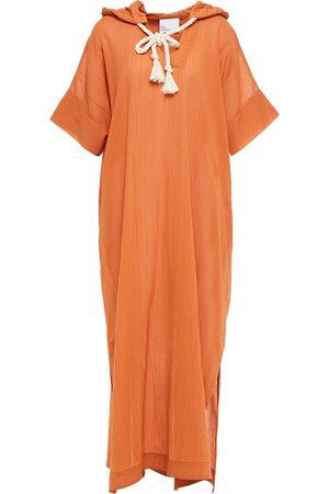 Lisa Marie Fernandez Woman Cotton-gauze Hooded Kaftan Tan Size 0