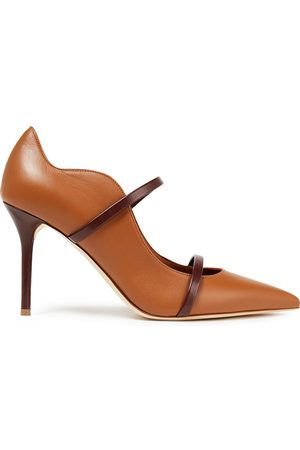 MALONE SOULIERS Woman Maureen 85 Leather Pumps Tan Size 36