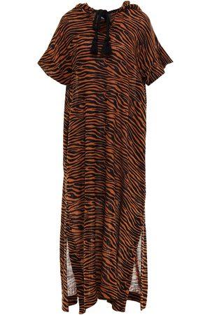 Lisa Marie Fernandez Woman Zebra-print Cotton-gauze Hooded Kaftan Tan Size 0