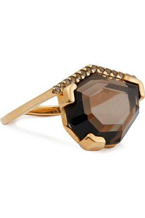 CORNELIA WEBB Women Rings - Woman 24-karat -plated Siamite And Quartz Ring Size 16