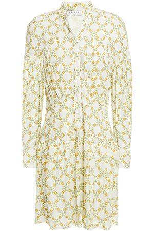 Sandro Women Party Dresses - Woman Magy Floral-jacquard Mini Dress Ivory Size 36