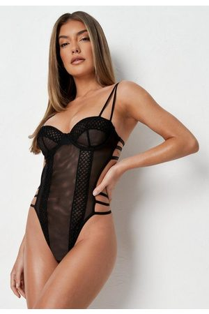 Missguided Mesh Circle Trim Underwired Babydoll