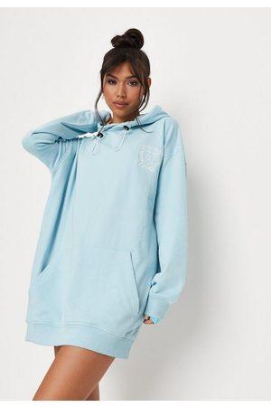 Missguided Petite Sports Club Hoodie Dress