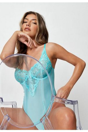 Missguided Lace High Apex Mesh Scallop Babydoll