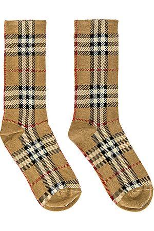 Burberry Socks in Tan