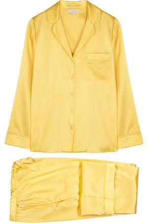 YOLKE Stretch-silk pyjama set