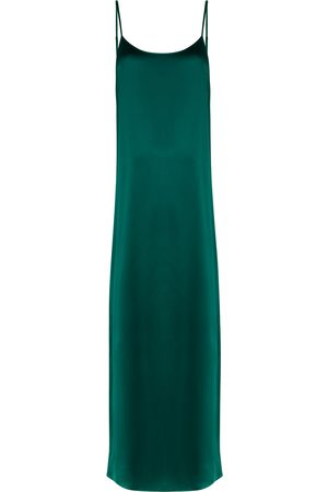 YOLKE Women Casual Dresses - Dark stretch-silk slip dress