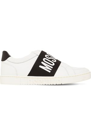 Moschino Logo Leather Low Top Sneakers