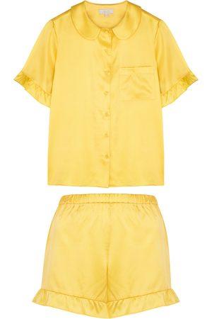 YOLKE Thebe stretch-silk pyjama set