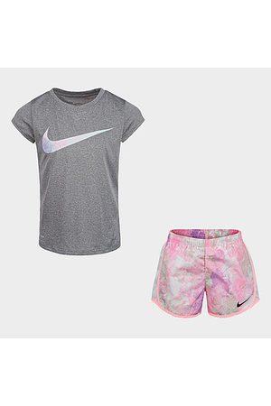 Nike Girls Sets - Girls' Little Kids' Dri-FIT Tie-Dye T-Shirt and Shorts Set Size 4 Polyester