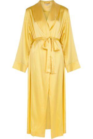 YOLKE Stretch-silk robe