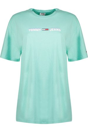 Tommy Hilfiger Linear Logo Short Sleeve T-shirt L Aqua Coast