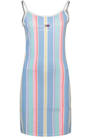 Tommy Hilfiger Stripe Short Dress L Light Powdery