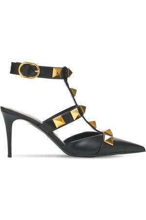 VALENTINO GARAVANI Women High Heels - 80mm Roman Studs Leather Pumps