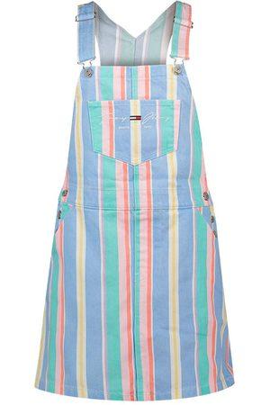 Tommy Hilfiger Stripe Dungaree Short Dress L Light Powdery