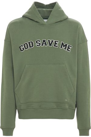 FLANEUR HOMME God Save Me Patch Sweatshirt Hoodie
