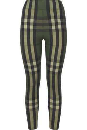Burberry Women Leggings - Madden Check Stretch Nylon Leggings