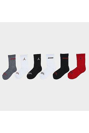 Nike Jordan Little Kids' Legend Crew Socks (6-Pack) Size 7-9 Cotton